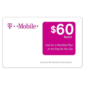 T-Mobile $60 Prepaid Card (email delivery)
