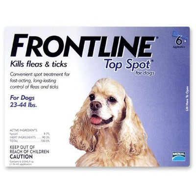 Merial Frontline Top Spot Flea and Tick Control for 23-to-44-Pound Dogs and Puppies, 6 Doses
