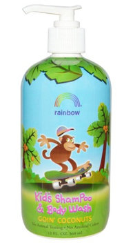 Kids Shampoo Body Wash Goin' Coconuts Rainbow Research 12 oz Liquid