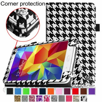 Fintie Folio Premium Vegan Leather Case Cover for Samsung Galaxy Tab 4 7.0 inch Tablet, Houndstooth Black
