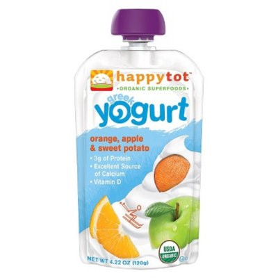 Happy Tot Happy Baby Greek Yogurt Pouch - Orange, Apple, & Sweet Potato 3.5oz