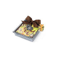 Mud Pie Metal Napkin Basket and Thanksgiving Turkey Icon Weight with 12 Paper Napkins