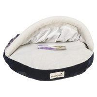 SmartyKat HoodedHideaway Tent Bed - Floral Navy (11