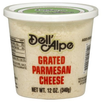 Dell' Alpe Grated Dried Parmesan Cheese, 12-Ounce (Pack of 3)
