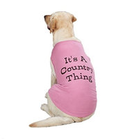 Zack & Zoey Cotton Country Thing Dog Tank Top, X-Small, Pink