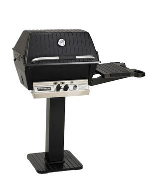 Broilmaster H4PK3N Natural Gas H4XN Grill Head Package and Patio Post/Base (BL26P) with 1 Drop Down Side Shelf