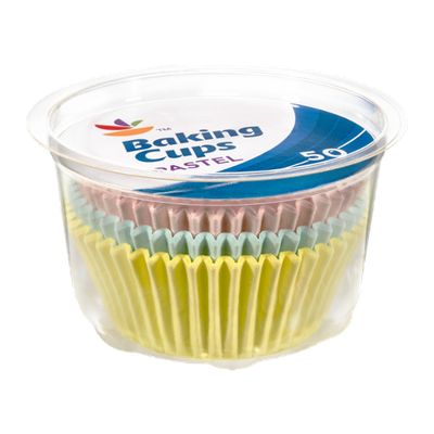 Ahold Baking Cups Pastel - 50 CT