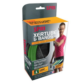 SPRI Es500r Xertube Resistance Band, Green, Light, 1 ea