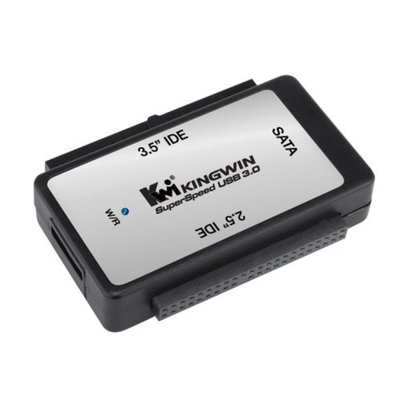 Kingwin USI-2535SIU3 USB 3.0 to SATA and IDE Adapter for 2.5in. and 3.5in. Hard Drives