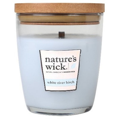 Nature's Wick White River Birch 10 oz Jar Candle