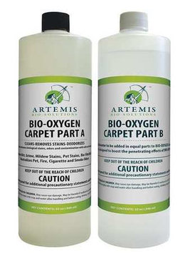 BIO-OXYGEN CARPET ABSCC040 Liquid Carpet Cleaner, Quart, Fresh, PK2