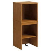 Office Connect by Bush Furniture PR76305 Envoy Series Narrow Hutch, 16 by 14.25 by 36.25-Inch, Natural Cherry