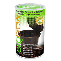 Ekobrew Cup, Refillable Filter for Keurig 2.0 & 1.0, 4-Count