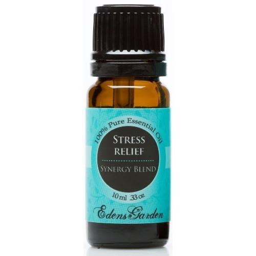 Edens Garden Stress Relief Synergy Blend Essential Oil- 10 ml (Bergamot, Patchouli, Blood Orange, Ylang Ylang & Grapefruit)