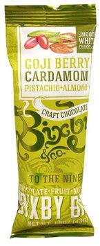 Bixby & Co. Bixby Bar To The Nines Smooth White Chocolate Goji Berry Cardamom Pistachio Almond 1.5 oz - Vegan