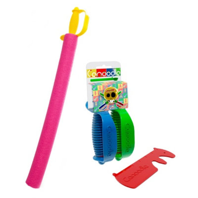 Canoodle Toy Pirate Noodle Sword, Twin Sword Handles, Noodle Cutter Ages 5+
