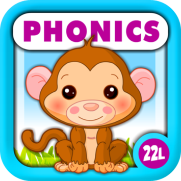 22learn, LLC Phonics Island Early Reading Learning Adventure · Montessori School Activities A to Z (Letter Sounds, Alphabet Flash Cards Game, Quiz, Tracing, Matching & Puzzle) with Animals Train for Kids (Toddler, Preschool and Kindergarten Children) by Abby Monkey®