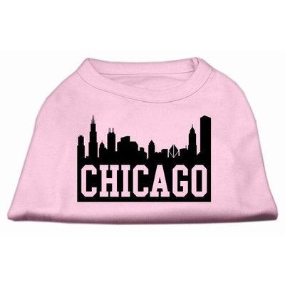 Mirage Pet Products 5166 XLLPK Chicago Skyline Screen Print Shirt Light Pink XL 16