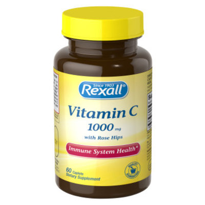 Rexall Vitamin C 1000 mg with Rose Hips - Caplets, 60 ct