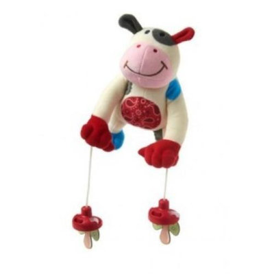 Pully Palz Pacifier Retriever Toy - MooMoo Cow