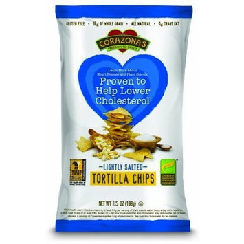 Corazonas Lightly Salted Whole Grain Tortilla Chips, 1.5-Ounce (Pack of 24)