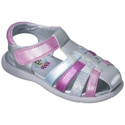Toddler Girl's Rachel Shoes Summertime Sandals - Silver 10