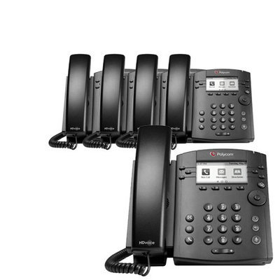Polycom 2200-46161-025 (5-Pack) 6-line Entry-Level Business Media Phon