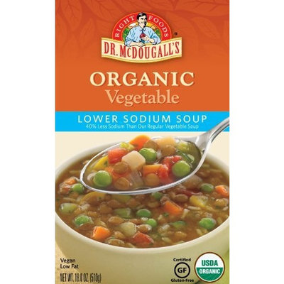 Dr. McDougall's Right Foods Organic Lower Sodium Soup, Vegetable, 18-Ounce (Pack of 6)