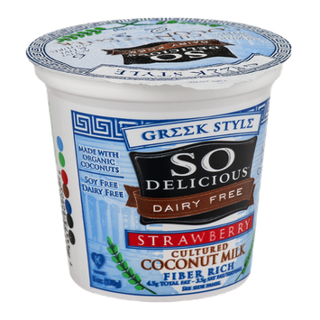 So Delicious Dairy Free Cultured Coconut Milk  Greek Style Strawberry