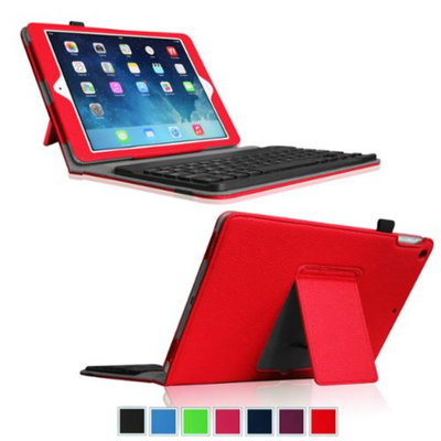 Fintie Ultra Thin Folio Key Removable Bluetooth Keyboard Case Cover for iPad Air 5 (5th Generation), Red