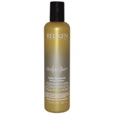 Redken Blonde Glam Color Enhancer Perfect Platinum Conditioning Treatment, 8.5 Ounce