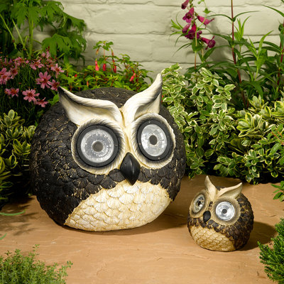 Smart Solar STI3563WRM2 Solar Owl Accent Set