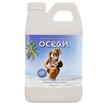 1/2 Gallon (2 Quarts) of Ocean Professional Salon Sunless Tanning Solution with 8.5% DHA and Medium Bronzer Color Guide