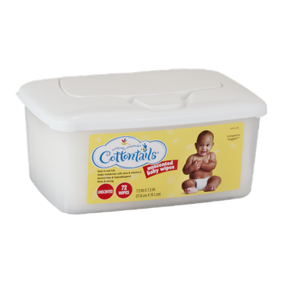 Cottontails Unscented Baby Wipes - 72 CT