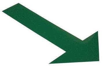 Mighty Line Industrial Floor Tape Markers (Arrow, Green) [PK/50]. Model: ARROW10G