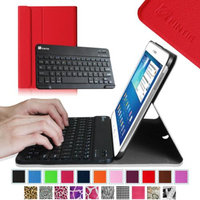 Fintie Wireless Bluetooth Keyboard Case Cover for Samsung Galaxy Tab 3 10.1 Inch Tablet, Red