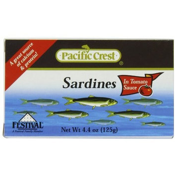 Pacific Crest Sardines in Tomato Sauce, 4.4-Ounce EZ Open Cans (Pack of 50)
