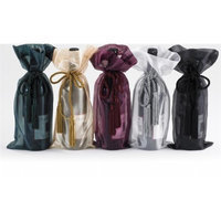 Joann Marie Designs W10BL Sheer Wine Bag - Black Pack of 12