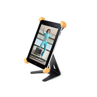 Monoprice Aluminum X-Form Rotatable Desktop Stand for all 9.7-inch iPad - Black