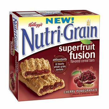 Kellogg's® Nutri-Grain® Cereal Bars Cherry Pomagranate Superfruit Fusion