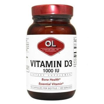 Vitamin D3 1,000 IU Olympian Labs 100 Caps