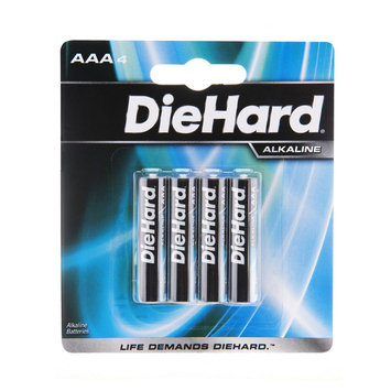 Diehard DieHard 4 pack AAA size Alkaline battery