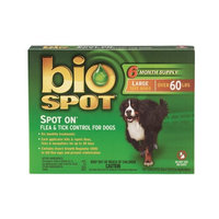 Bio Spot Spot On for Dogs over 60 lbs., 6 Month Supply