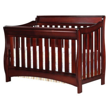 Delta Children Delta Bentley S Series 4-in-1 Convertible Sleigh Crib - Black Cherry