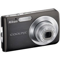 Nikon COOLPIX S210 8 Megapixel Digital Camera with 3x Optical Zoom-NIKKOR, ISO2000, 2.5 LCD & VR Image Stabilization - Graphite Black