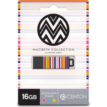 CENTON Centon 16GB PRO2 Macbeth USB Flash Drive, Soc Stripe