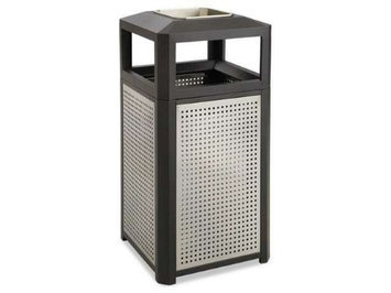 Safco 38 Gallon Evos Series Steel Ash Waste Receptacle