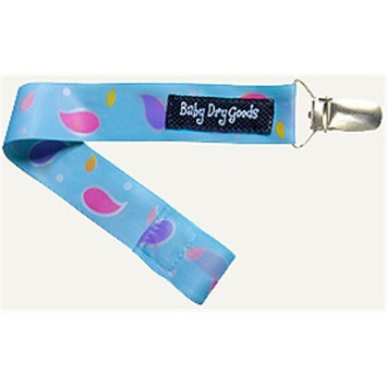 Baby Dry Goods 03026 BluePink Paisley Pacifier Clip