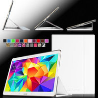 Fintie Ultra Slim Light Weight Stand Supports Three Viewing Angles Case for Samsung Galaxy Tab S 10.5 Tablet, White