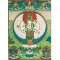 Laughing Buddha Trading Buddhist Art Card Featuring 1,000 Armed Avalokiteshvara